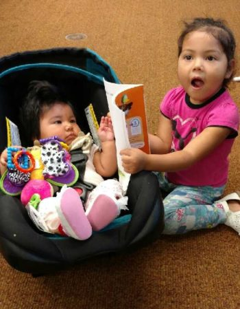 332 - Homedale GYL - 7.21.2017 - Sharing your new book with the baby